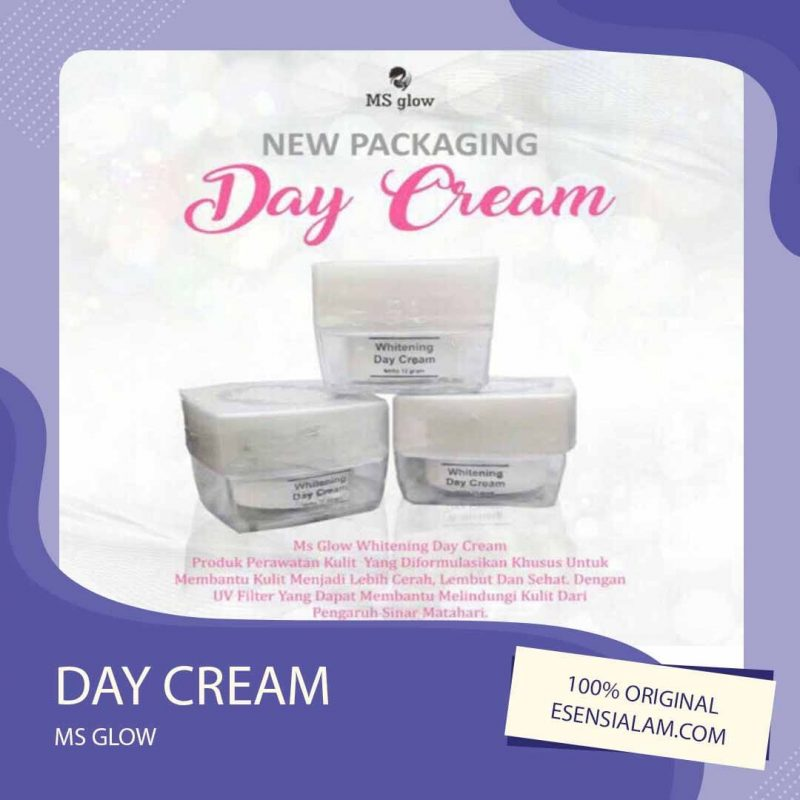 Day Cream Ms Glow / Krim Siang Ms Glow, Kandungan , Manfaat √