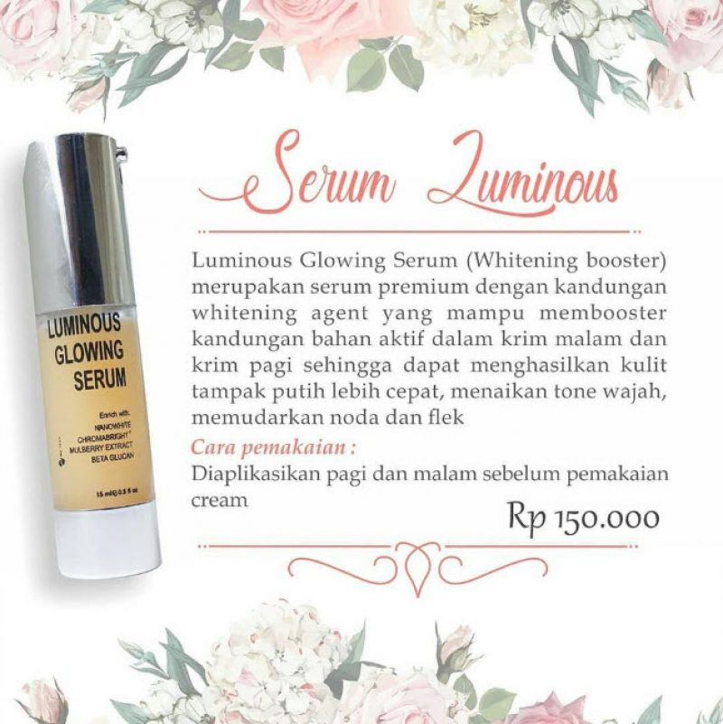Serum Luminous Ms Glow, Tips Jitu Extra Glowing √