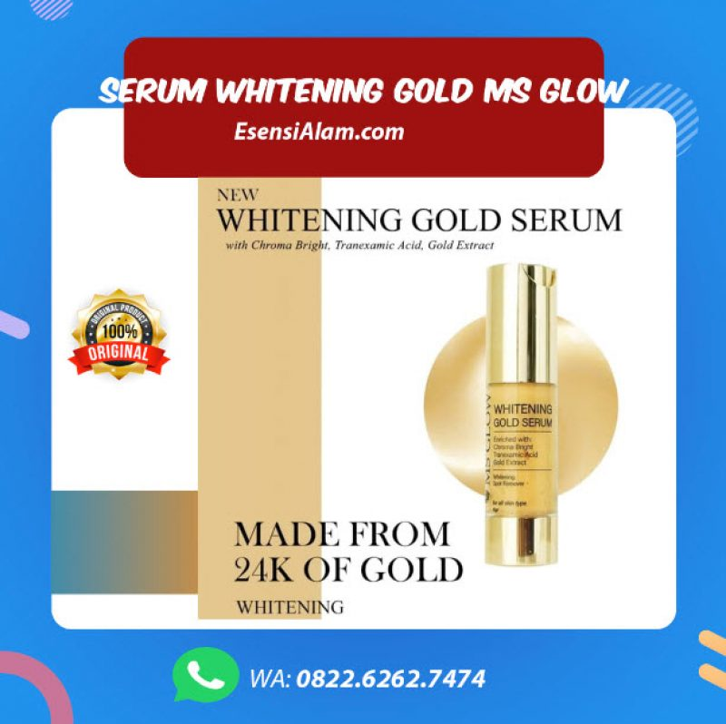 Serum Whitening Gold Ms Glow, Fungsi, Manfaat, dan Cara Pakai, Harga √
